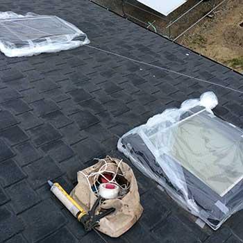 天窓の雨漏り応急処置